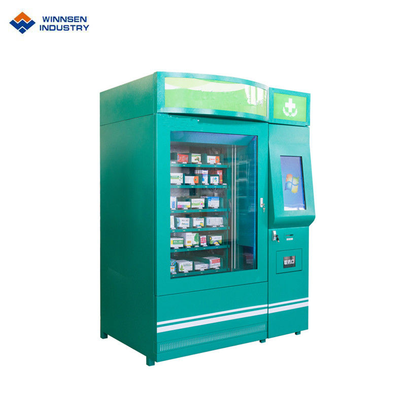 Double Cabinet Pharmacy Vending Machine , Medicine Vending Machine With Cooling System