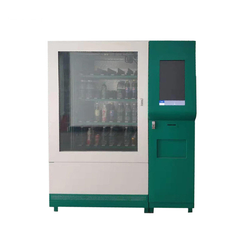Coin Bill Card Payment Food Vending Machine For Sandwich Drinks With Advertising Display